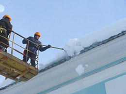 Клининг и уборка снега с крыши