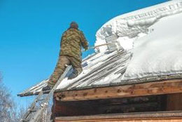 Клининговая компания и уборка снега с крыши